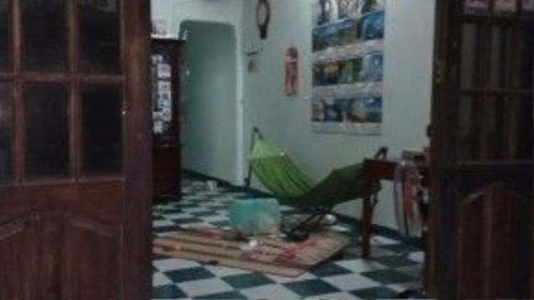 Ngôi nhà nơi chị Đầm và con gái 3 tuổi bị truy sát.
