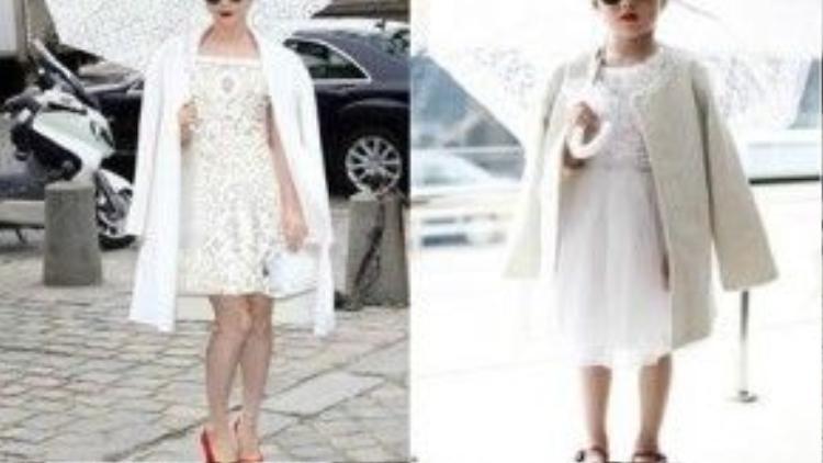 Phạm Băng Băng khoác lên mình bộ váy trắng kết hợp hoàn hảo giữa voan và ren, bộ váy là thiết kế mới nhất nằm trong Bộ sưu tập xuân hè 2012 của Nhà thiết kế Louis Vuitton, kèm thêm mái tóc xoăn nhuộm đỏ rực rỡ khiến cô thật ấn tượng.