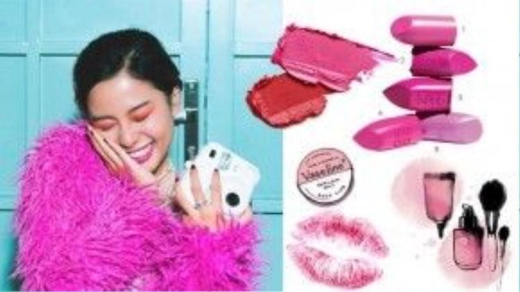 """5 gợi ý vô cùng hữu ích cho những tín đồ màu hồng từ 1-5 bao gồm : 1. Son Marc Jacobs Le Marc lip crème in """"Clara"""" có giá 630k, 2. Son hồng sen của hãng Kat Von D Studded Kiss lipstick in """"Backstage Bambi"""" giá sấp xỉ 400k, 3. Son Nars Audacious lipstick in """"Michiyo"""" với 690k/ sản phẩm, 4. Son của nhãn hàng Givenchy Le Rouge lipstick in """"209 Rose Perfecto"""" gần 720k/c. 5. Son hồng tím của nhãn hàng Dior với giá 880k/c. Trước khi tô son các nàng hãy nhớ thoa một lớp Vaseline dưỡng môi trước để chống nứt nẻ nhé."""