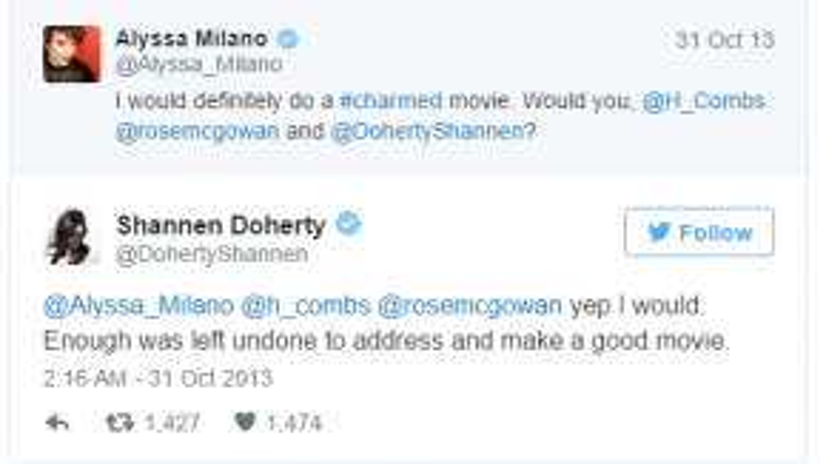 Shannen Doherty trong vai chị cả Prue đồng tình với khả năng quay trở lại Charmed.