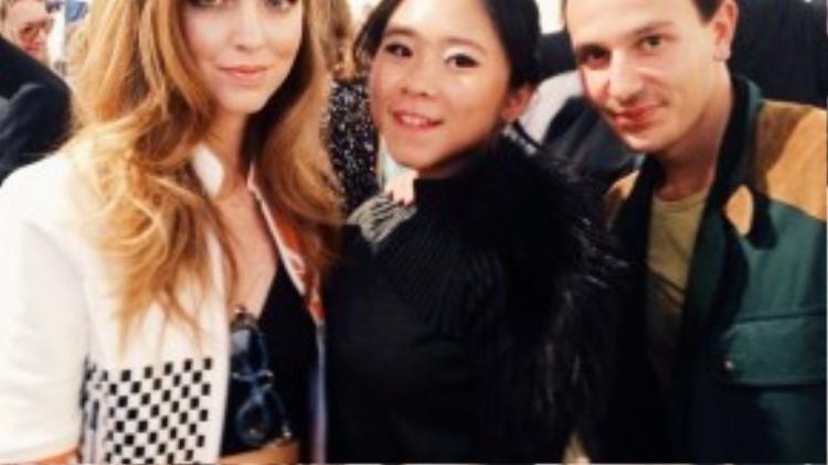 Chiara Ferragni và Nga Hồng Nguyễn