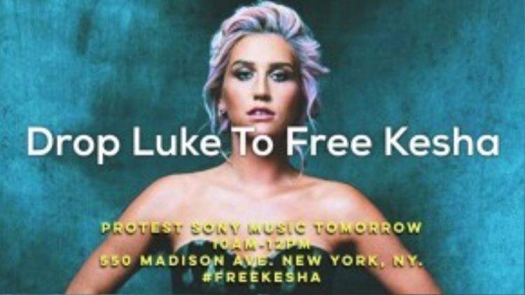 Fans Kesha vẫn đang từng ngày đứng phía sau làm hậu phương vững chắc cho cô trong cuộc chiến này.