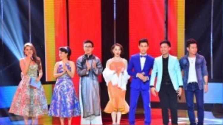 Cẩm Ly bên cạnh Thành Thiện, Cao Công Nghĩa, Văn Nam, Đình Nguyên và Thanh Vinh. 5 thí sinh xuất sắc nhất sẽ bước vào vòng Liveshow của chương trình.