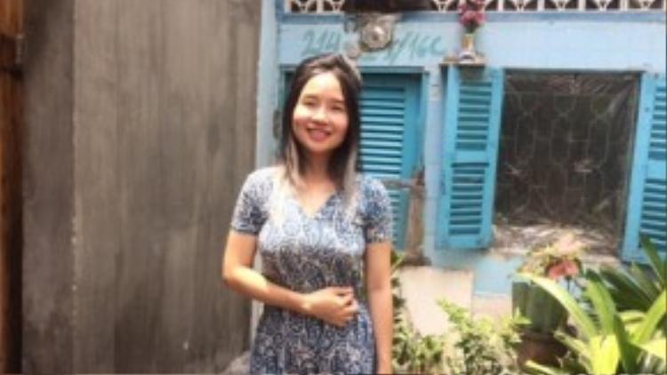 Hình ảnh mới nhất của ca sĩ Mai Khôi trưa 11/3.