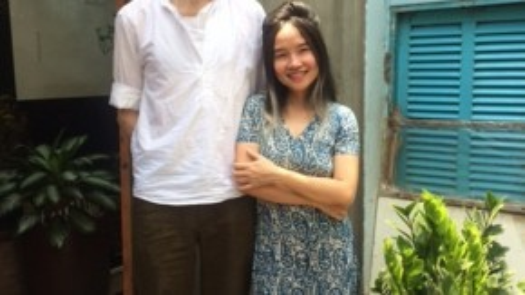 Chồng Mai Khôi luôn ủng hộ và đồng hành cùng vợ trong mọi hoạt động.