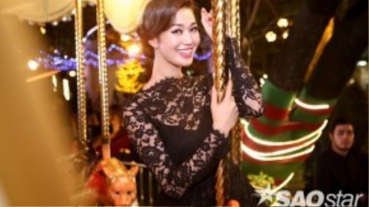 Khoảnh khắc ấn tượng của Khánh My tại buổi ghi hình.