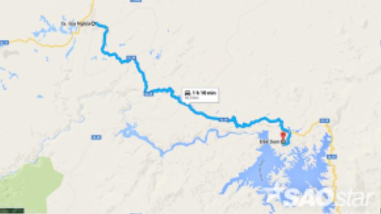 Thị xã Gia Nghĩa (Đắk Nông) chỉ cách khu bảo tồn thiên nhiên Tà Đùng khoảng 50km.