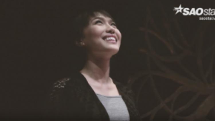 Nụ cười hạnh phúc của Diệu Nhi khi tham gia Bước nhảy Hoàn vũ 2016.