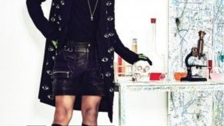 Nổi bật với mái đầu rối có chủ đích trên tạp chí Cosmopolitan của Hàn.