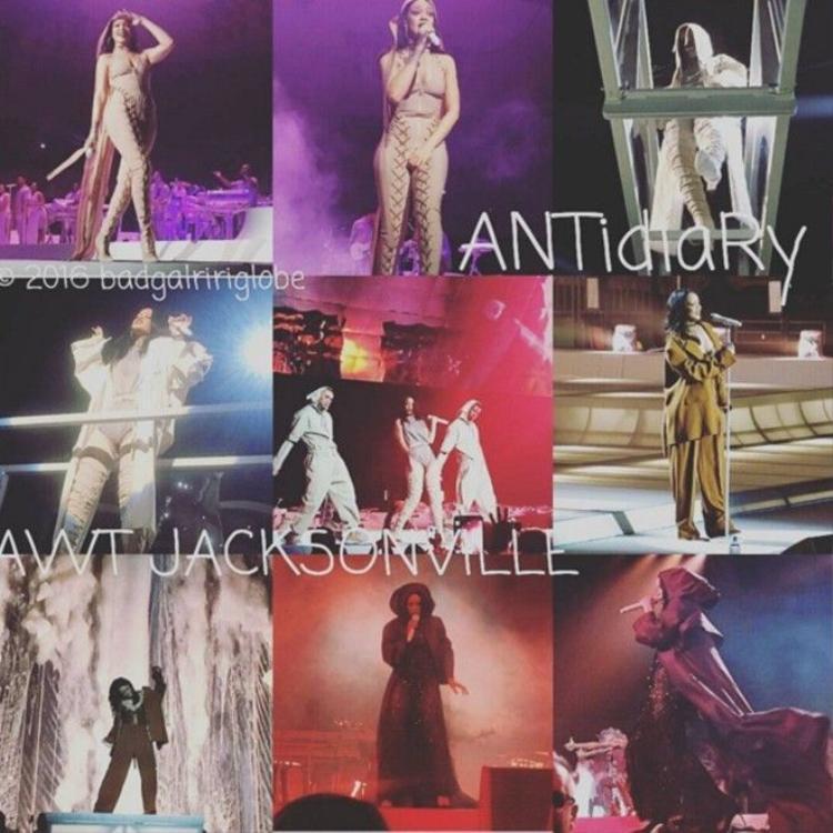 Rihanna khởi động tour diễn ANTI gây náo động miền Đông Nam nước Mỹ