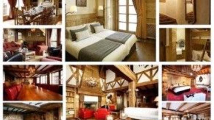 Bên trong những căn biệt thự gỗ dành cho các du khách giới thượng lưu nghỉ dưỡng và trượt tuyết. Trước đây, các khu resort trượt tuyết cao cấp thế này chỉ dành cho các hoàng gia nhưng sau này đã mở rộng sang nhiều đối tượng du khách có tiền khác.
