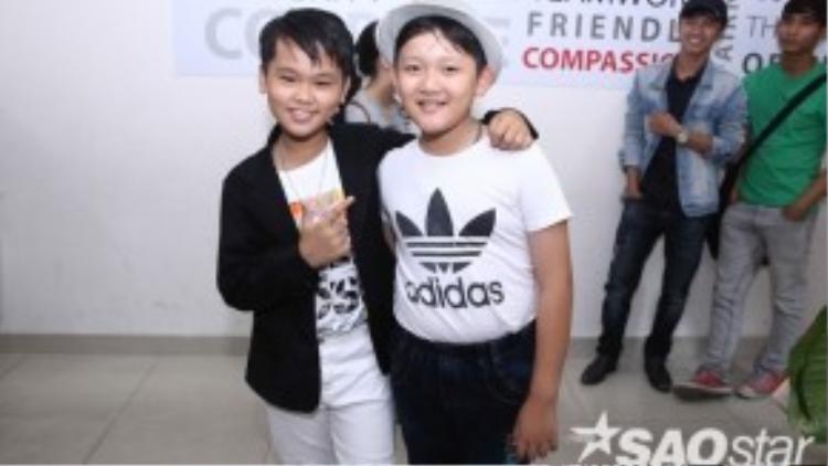 Hai cậu bé từng gây ấn tượng tại buổi thử giọng của chương trình.