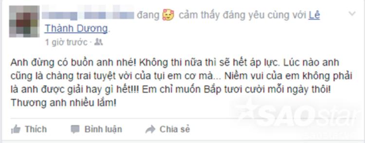 Chỉ sau vài phút bị loại, fan đồng loạt gửi lời động viên siêu ngọt ngào tới Ngô Kiến Huy