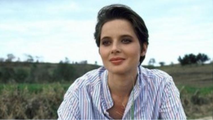 Bà Isabella Rossellini trong một phân đoạn film của Lancôme năm 1983.