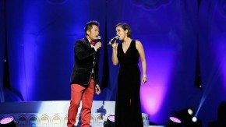 Cặp song ca Mỹ Linh - Bằng Kiều khiến khán giả mất ăn mất ngủ với Trái tim không ngủ yên một thời.