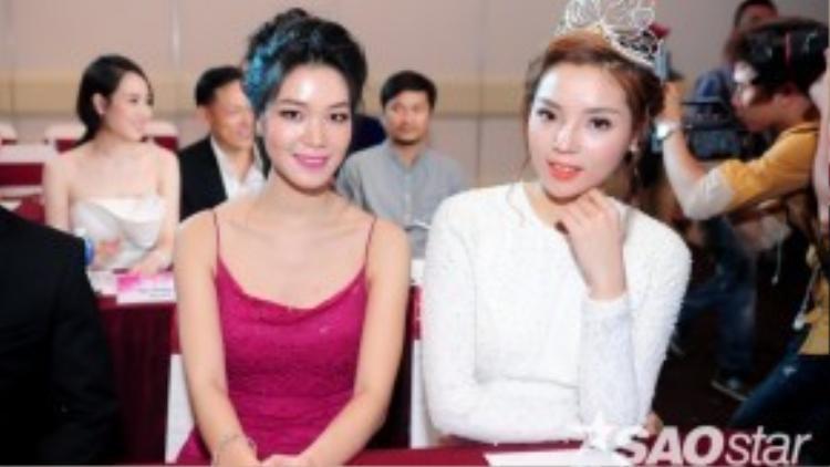 Hoa hậu Thùy Dung thân thiết cùng Kỳ Duyên.
