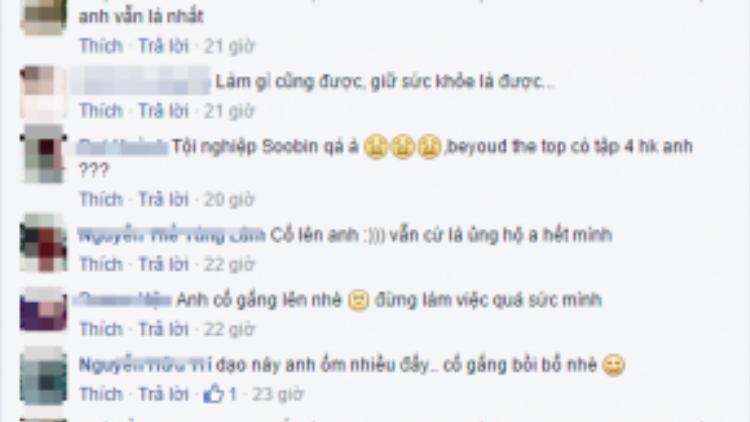 Fan hâm mộ lo lắng cho tình trạng sức khỏe của Soobin Hoàng Sơn.
