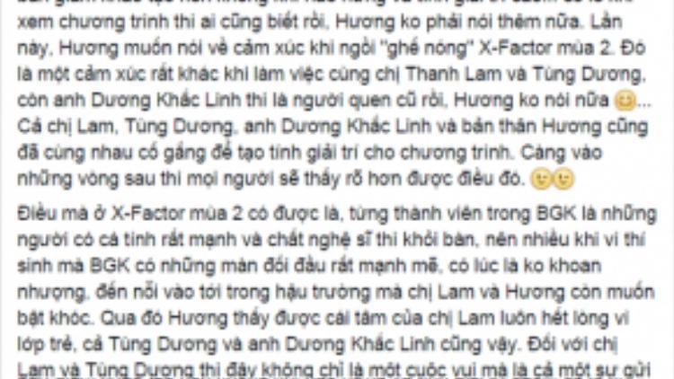 Những chia sẻ chân thành của Hồ Quỳnh Hương trên vị trí giám khảo - HLV. Cùng chờ đón Hồ Quỳnh Hương trên hàng ghế quan trọng quyết định đến sự thành công của X-factor mùa 2.