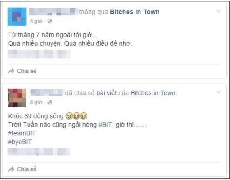 Bitches In Town chính thức ngừng sản xuất