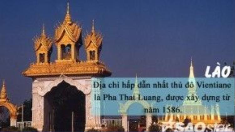 Thủ đô của Lào là Vientiane (phiên âm tiếng Việt: Viêng Chăn). Do bị Pháp đô hộ trong khoảng thời gian khá dài, kiến trúc Vientiane có sự pha trộn Đông - Tây khá đặc sắc, ấn tượng. Địa danh được nhiều người tìm đến nhất ở thủ đô Vientiane là Pha That Luang - một ngôi chùa Phật giáo được xây dựng từ năm 1586, có lưu giữ nhiều kỷvật quý của Đức Phật.