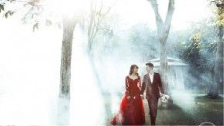 Khung cảnh lãng mạn như trong chuyện cổ tích của bộ ảnh cưới…