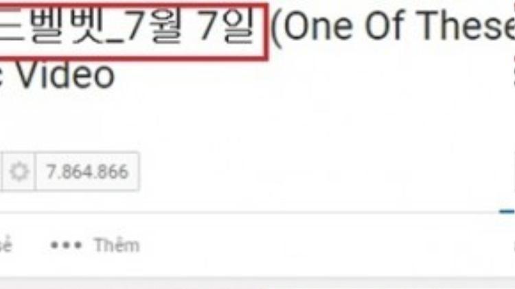Theo người này, tựa MV trong tiếng Hàn có liên quan đến lễ Chilseok.
