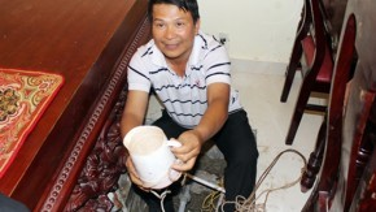 Nước giếng trong khách sạn nhà ông Hoa nóng 42 độ C