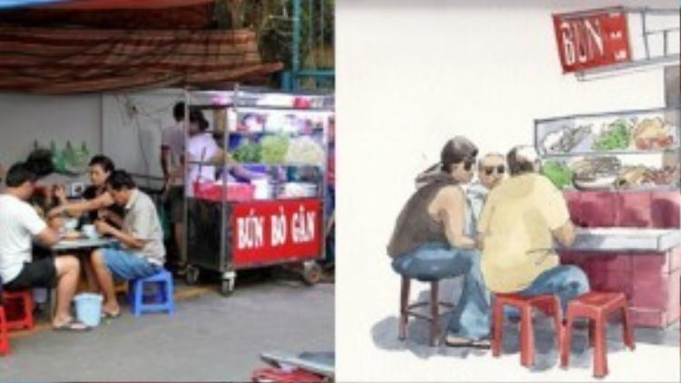 Ở Sài Gòn, từ hàng quán máy lạnh cho đến bình dân lề đường, đâu đâu cũng có bún. Thậm chí, nhiều quán ăn trên vỉa hè sở hữu lượng khách ruột đông đúc đến nỗi không thể nghỉ bán, dù chỉ một ngày.