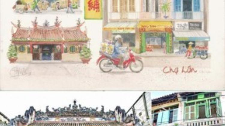 Xem việc vẽ tranh như viết nhật ký hàng ngày, trong ngôi nhà nhỏ của họa sĩ Bridget March tại Sài Gòn,tràn ngập là những bức tranhvềViệt Nam nói chung cũng như Sài Gòn nói riêng. Từ những nét văn hóa đặc trưng của khu vực Chợ Lớn…