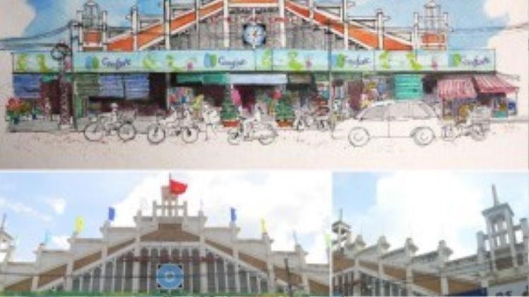 … đến khung cảnh nhộn nhịp của chợ Tân Định (quận 1)…