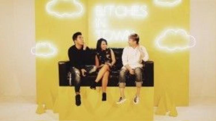 Thuỳ Minh, Lê Minh Ngọc và Nguyễn Ngọc Thạch xuất hiện trong phim trường mới của Bitches in Town.