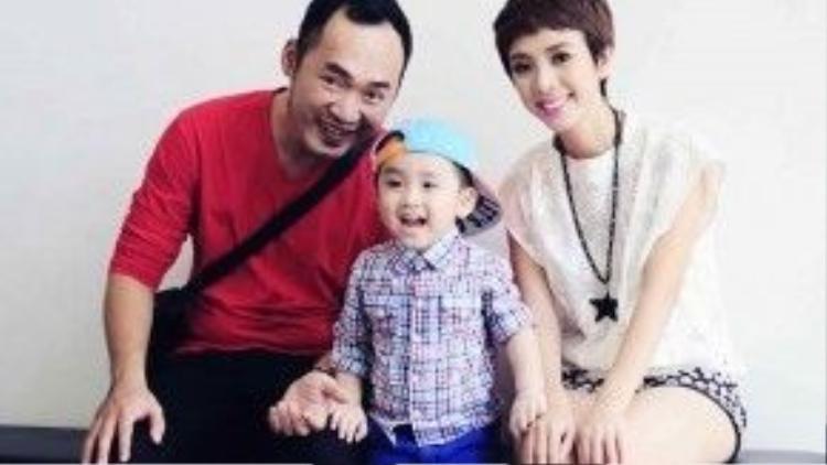 Gia đình hạnh phúc của Thu Trang - Tiến Luật.