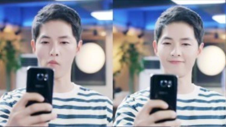 """Tạm rời quân đội với quân phục và súng ống, trong cuộc sống đời thường, Yoo Shi Jin """"hiện nguyên hình"""" là một chàng trai mang tâm hồn trẻ thơ."""