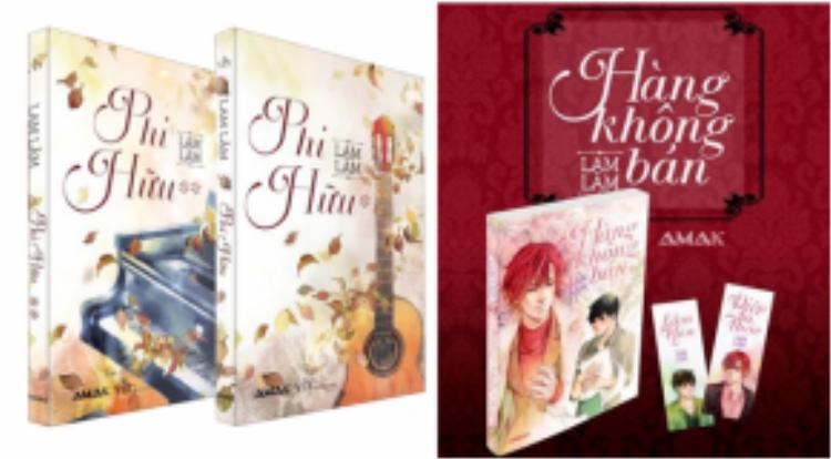 Một số bộ truyện của Lam Lâm đã được xuất bản tại Việt Nam.