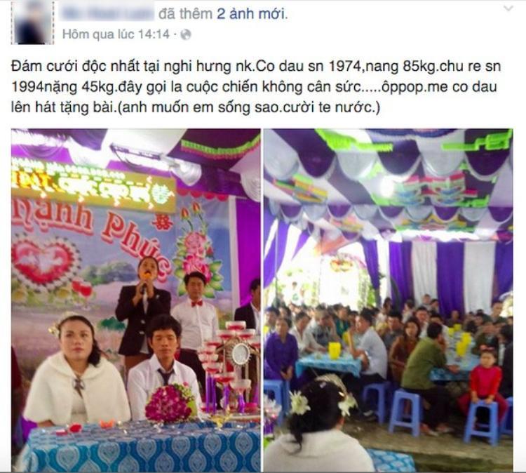 Đám cưới hot nhất ngày: Cô dâu 42 tuổi nặng 85kg, chú rể 22 tuổi nặng 45kg