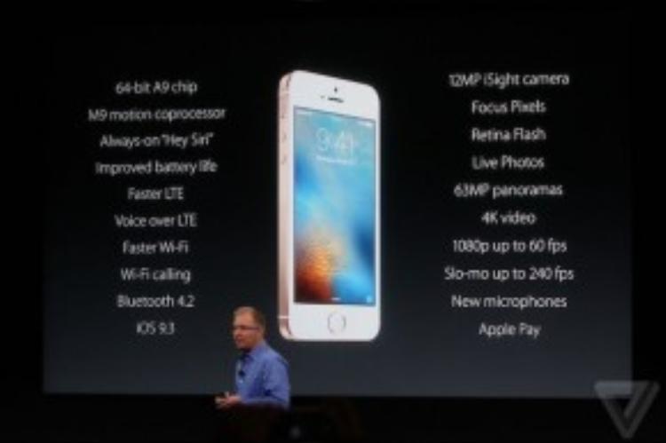 Chi tiết cấu hình của iPhone SE.