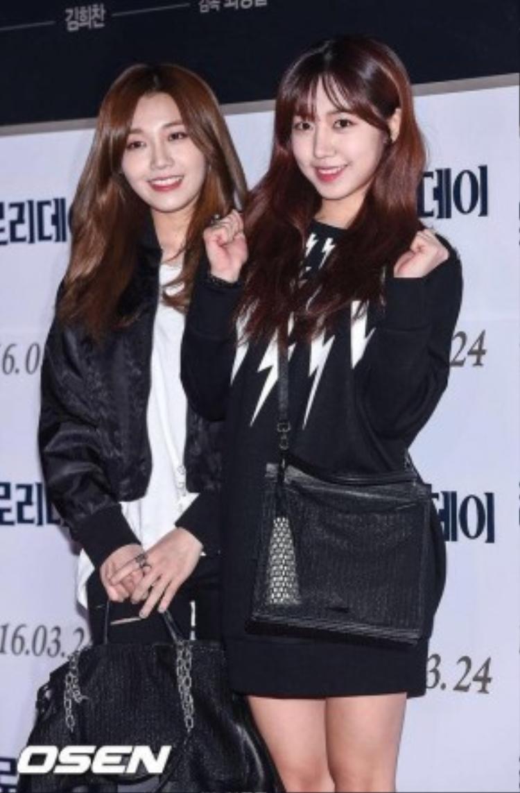 Eunji và NamJoo (Apink) cũng có mặt trong sự kiện này.