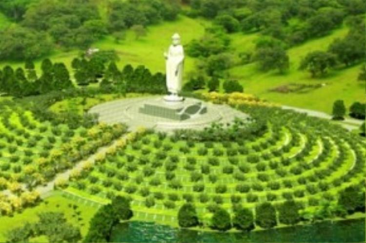 Ảnh phổi cảnh tổng thể khu Công viên nghĩa trang Vĩnh Hằng Thiên Phúc.