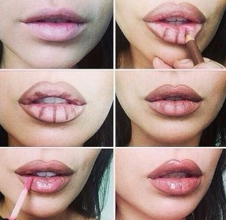 Khỏi cần đau đớn, rủi ro bạn hãy make môi để có những màn biến hóa khôn lường cho đôi môi dày sexy.