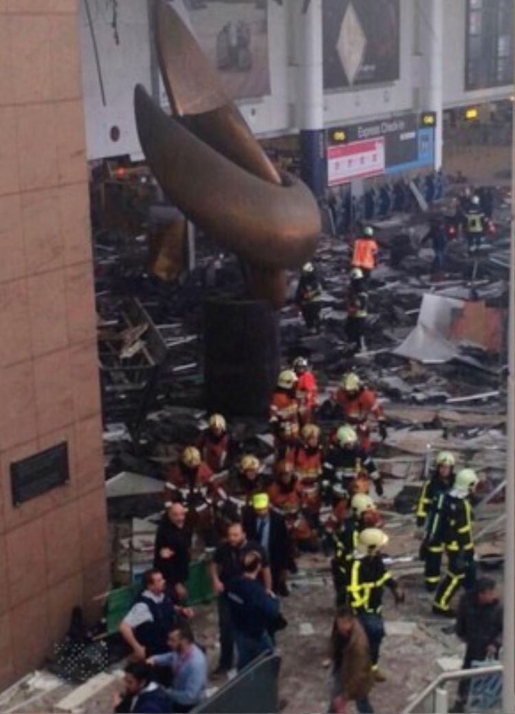 Thiệt hại về vật chất trong sân bay Zaventem. Ảnh: Xposure Photos.