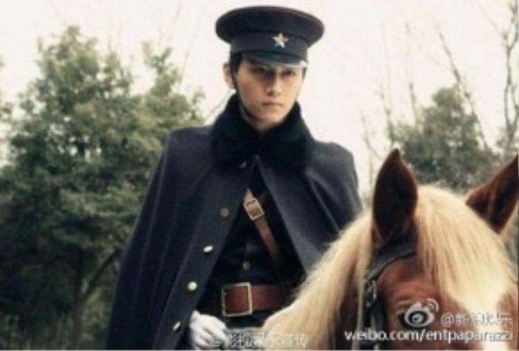 Chàng Dương Quá Trần Hiểu trong vai quân nhân Quách Khiếu Thiên - phim Mẹ chồng nàng dâu