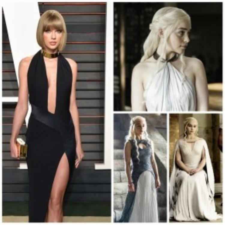 Cả hai vô cùng xinh đẹp và gợi cảm trong trang phục được thiết kế như vậy.