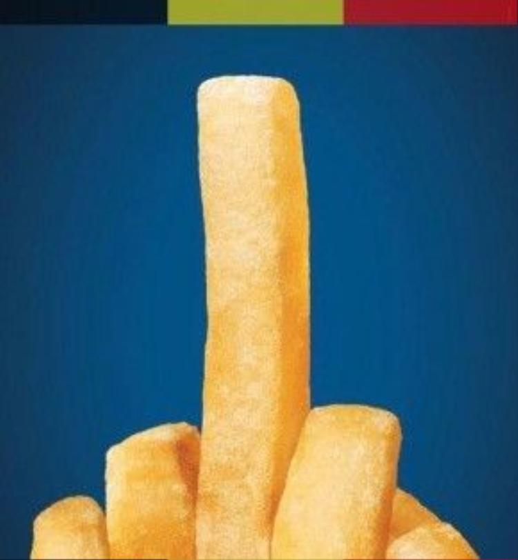 """Một số cư dân mạngthậm chí đã thông qua hình ảnh món khoai tây chiên đặc trưng của Bỉđể ngầm nhắngửi """"ngón tay thối"""" đầy thách thức, thể hiện sự bất bình đếnnhững kẻ tấn công khủng bố."""