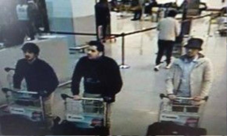 Hình ảnh các nghi phạm tấn công Brussels. Ảnh: VTM.