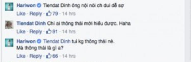 Hari còn hài hước gọi Tiến Đạt là ông nội và tự nhận mình không thông thái.
