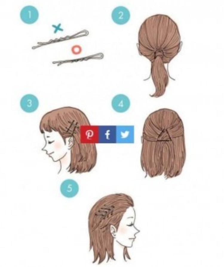 Các cách biến hóa chỉ với những chiếc cặp tăm quen thuộc mà bạn gái nào cũng có. Bạn có thể cuốn gọn tóc theo kiểu đuôi ngựa rồi dùng kẹp tăm giữ cố định. Hoặc có thể dùng món đồ này vén gọn phần tóc hai bên thái dương. Thậm chí cũng có thể dùng kẹp tăm tạo thành các mối giữ tóc kiểu cách.