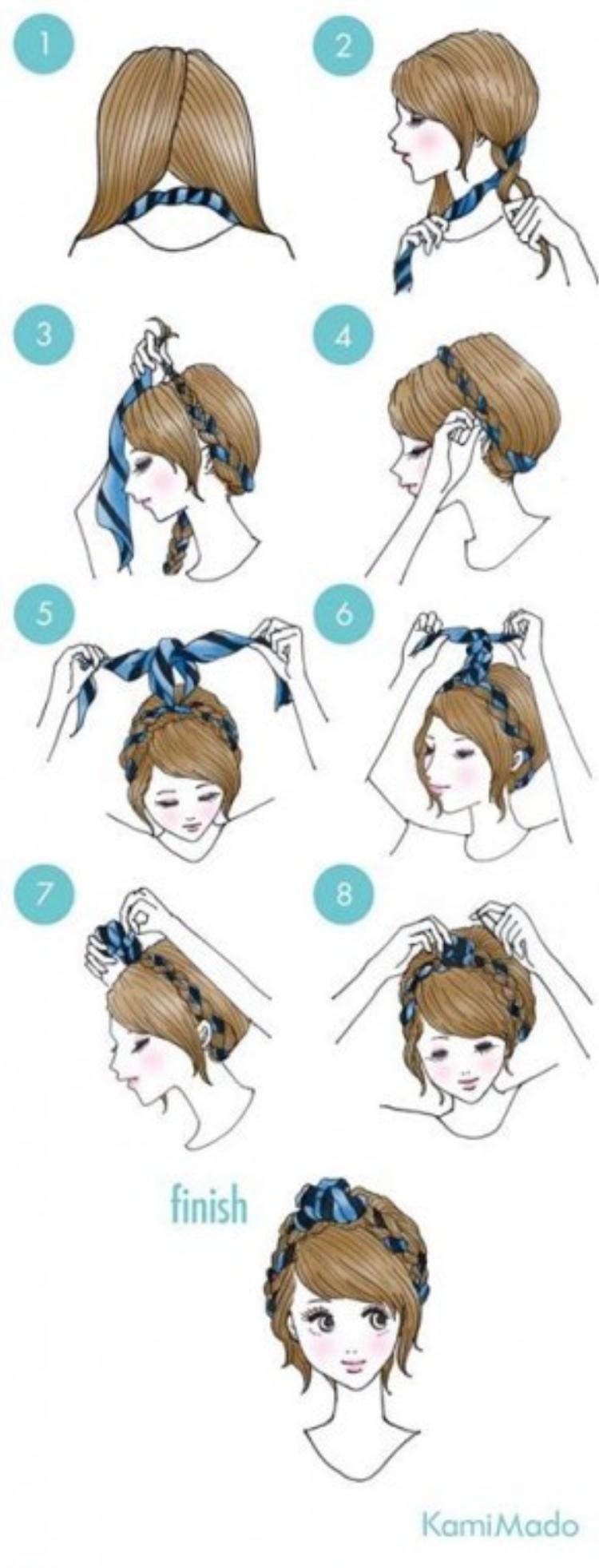 Bên cạnh những cách làm tóc thông thường thì các bạn hoàn toàn có thể kết hợp với những phụ kiện khác để thêm phần phong phú. Chiếc turban là một lựa chọn hoàn hảo.