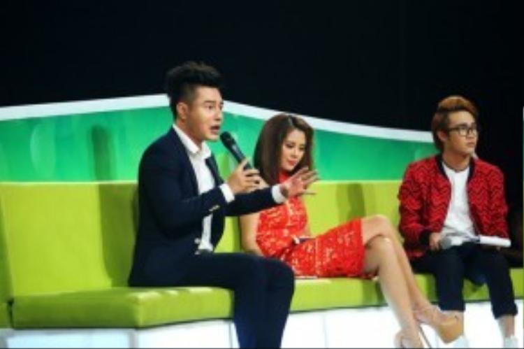 """Dương Lâm cho rằng diễn viên Đoan Trang vào vai Lữ Bố rất ra dáng đàn ông và """"chuẩn men"""" hơn cả mình."""