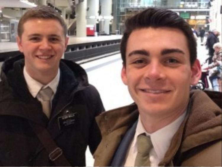 Mason Wells và bạnJoseph Empey đều bị thương nặng sau vụ nổ bom ở sân bay Brussels (Bỉ) thứ Ba vừa qua. Ảnh:AP