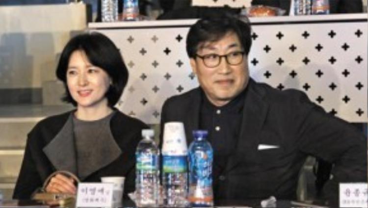 Vợ chồng nữ diễn viên trong một sự kiện từ thiện năm 2015.